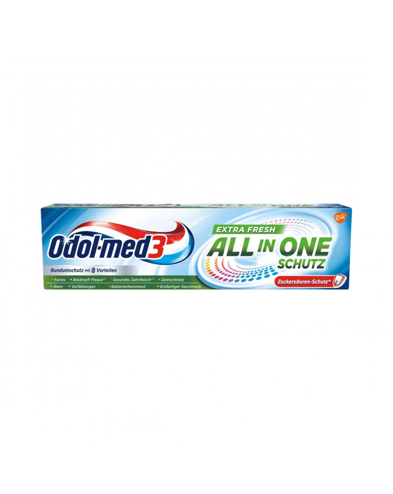 Zahnpasta All in One Extra Frisch Зубная паста для всей семьи экстра свежая, 75 мл