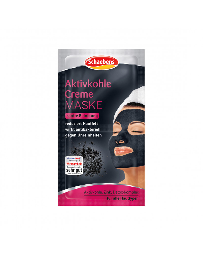 Aktivkohle Creme Maske Крем-маска с активированным углем и цинком, 2x5 мл
