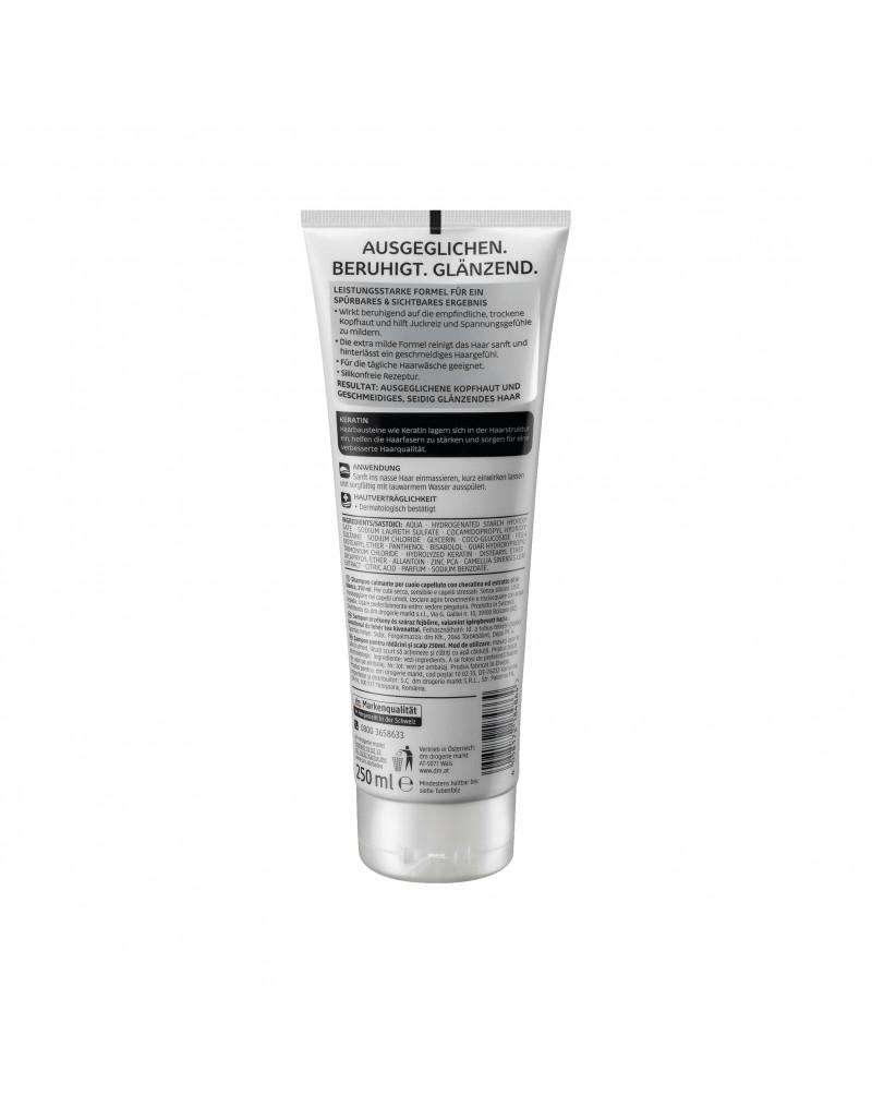 Shampoo Kopfhaut Balance Шампунь для сухих и поврежденных волос и чувствительной кожи головы, с кератином и экстрактом зеленого чая, 250 мл