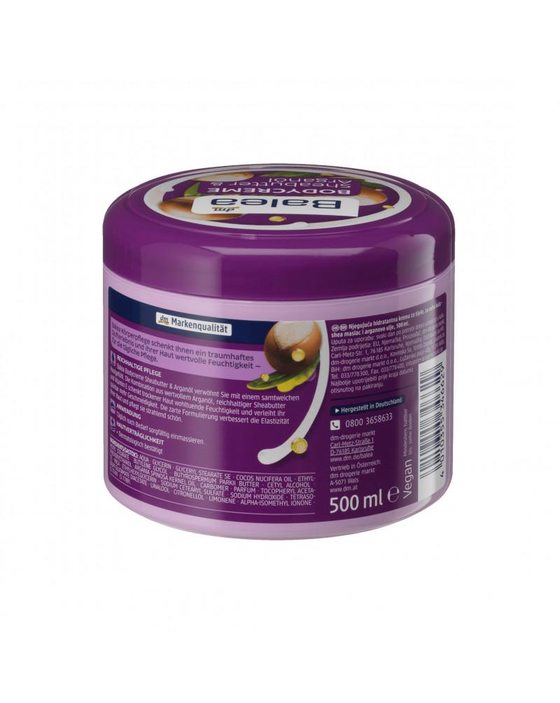 Pflegecreme Sheabutter  Крем для тела с маслом ши, арганы и кокоса, 500 мл