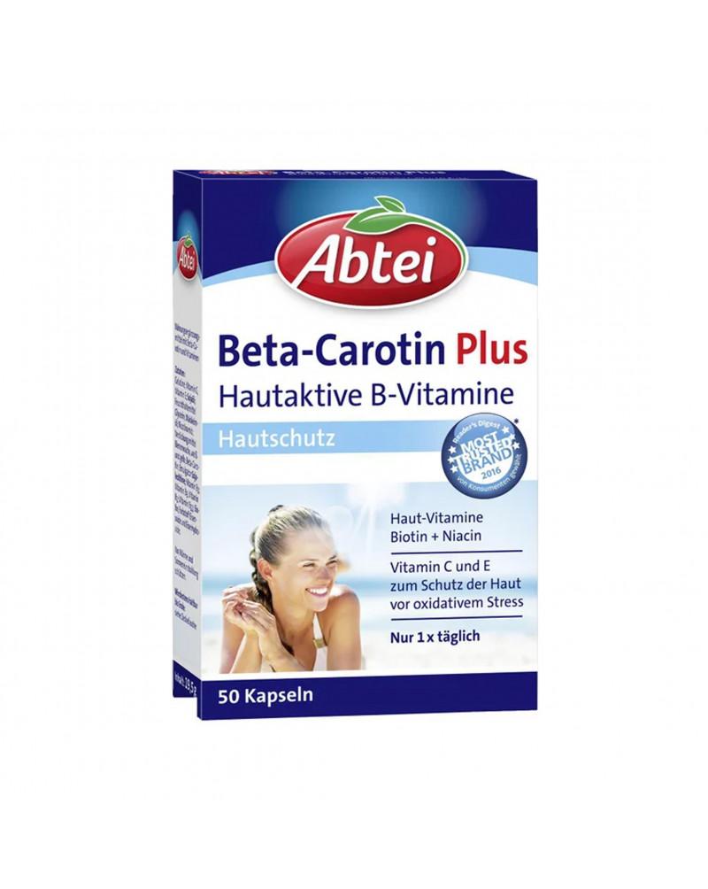 Beta-Carotin Plus Kapseln Витаминый комплекс с бета-каротином, витаминами B, С, биотином и ниоцином, 50 шт.
