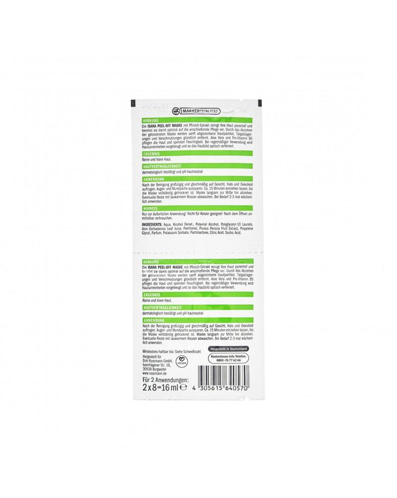 PEEL OFF Maske Маска-пленка для лица с экстрактом алоэ вера и экстрактом персика, 2 x 8 мл