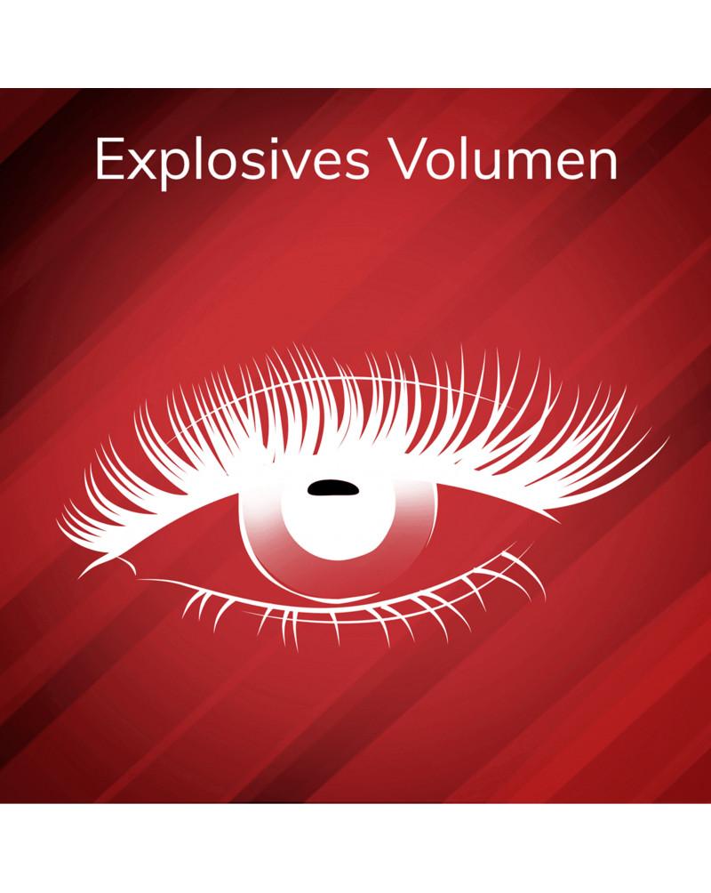 "Wimperntusche Volcano Explosive Volume Mascara Black 1010N  Тушь  для ресниц ""Мега обьем"", чёрная, 10 мл"