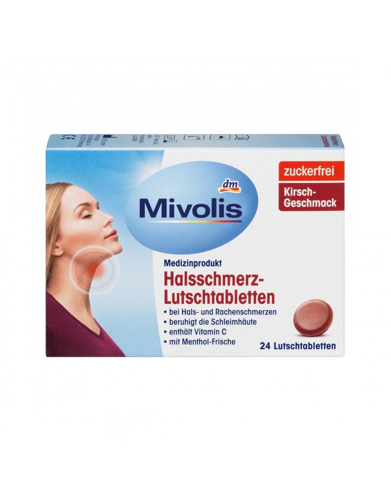 Halsschmerz-Lutschtabletten Леденцы от боли в горле со вкусом ментола, 24 шт.