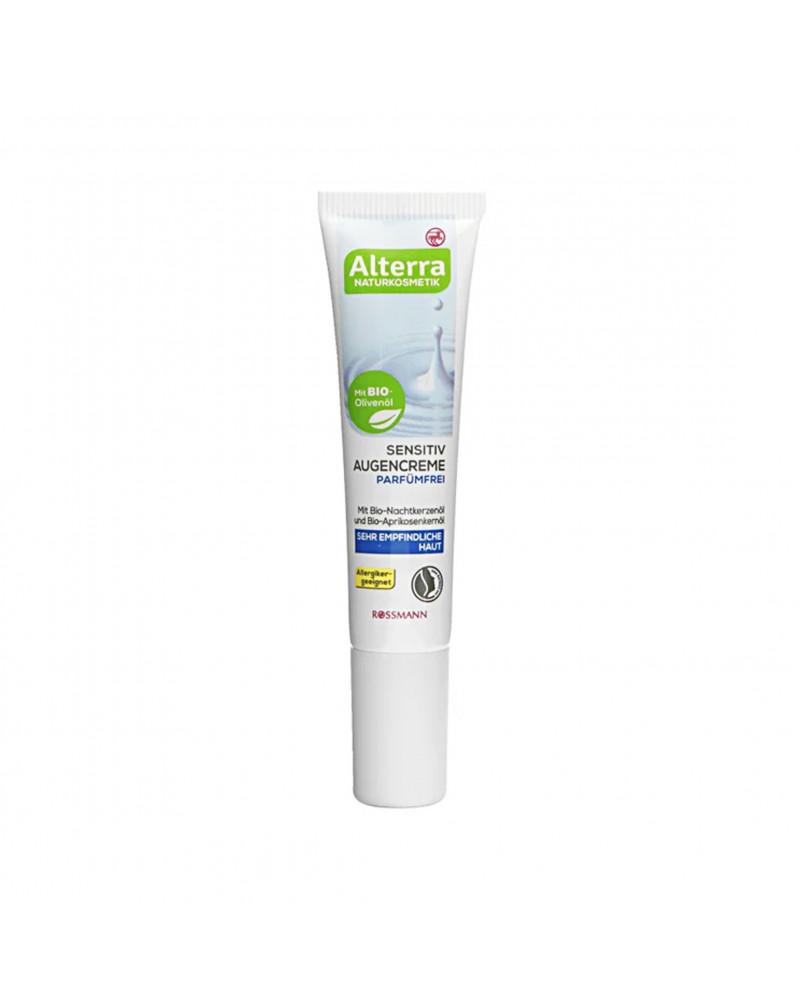 Sensitiv Augencreme Parfümfrei Крем для чувствительной кожи вокруг глаз с маслом энотеры, абрикоса, оливы и экстрактом алоэ, 15 мл