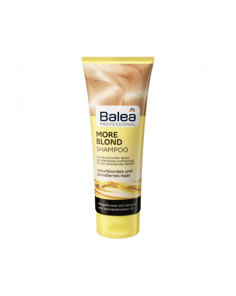 Shampoo More Blond Шампунь с кукурузным протеином, маслом подсолнуха и протеином пшеницы для светлых волос, 250 мл