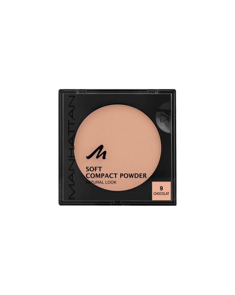 Gesichtspuder Soft Compact Powder Chocolat 09 Мягкая матирующая компактная пудра для лица (Chocolat 09), 9 г
