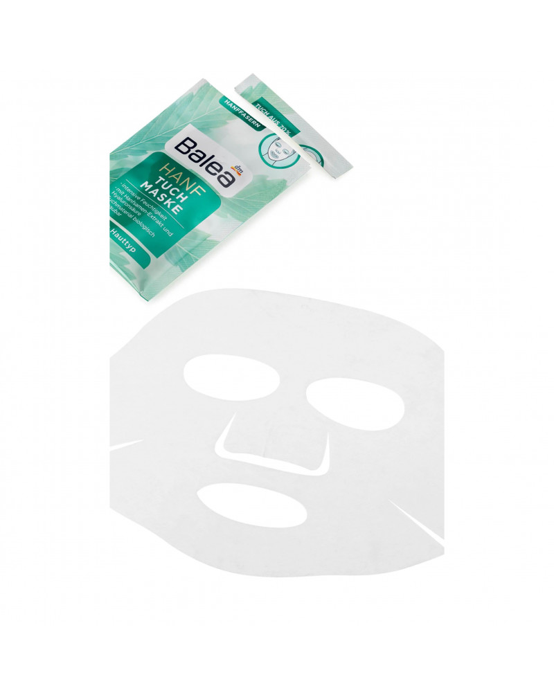 Tuchmaske Hanf  Маска тканевая для лица с маслом семян конопли,  1 шт.