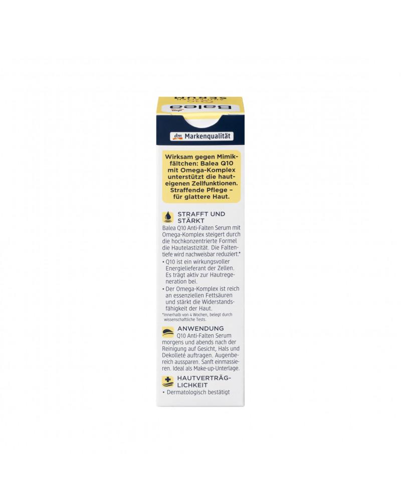 Serum Q10 Anti-Falten Сыворотка для лица с коэнзимом Q10, омега комплексом, сафлоровым маслом и пантенолом, 30 мл