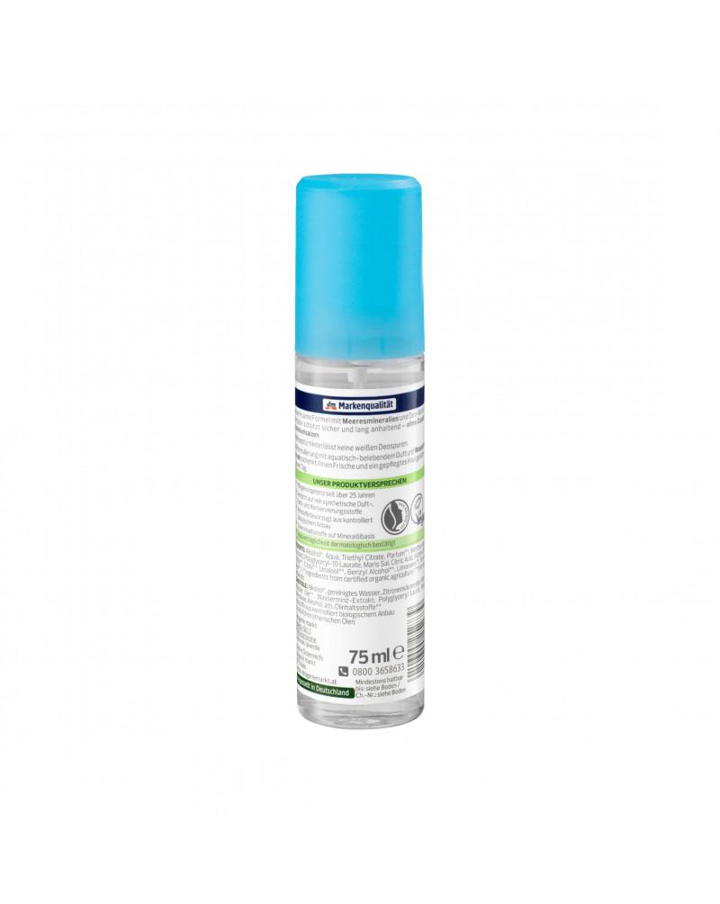 Deo Zerstäuber Deodorant Wasserminze Meeresmineralien Дезодорант парфюмированный с морским минералом и экстрактом мяты, 75 мл