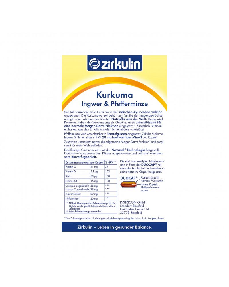 Curcuma + Pefferminze + Ingwer Куркума, мята перечная, имбирь, 15 кап.