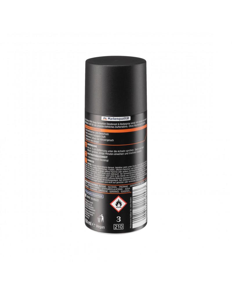 Deospray Deep Sensation Дезодорант с древесным ароматом, 150 мл