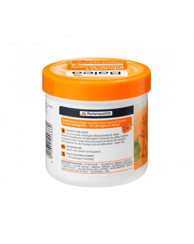 Pflegecreme Melkfett Ringelblume Крем для тела с экстрактом календулы и моркови, с маслом сои и подсолнечника, 250 мл