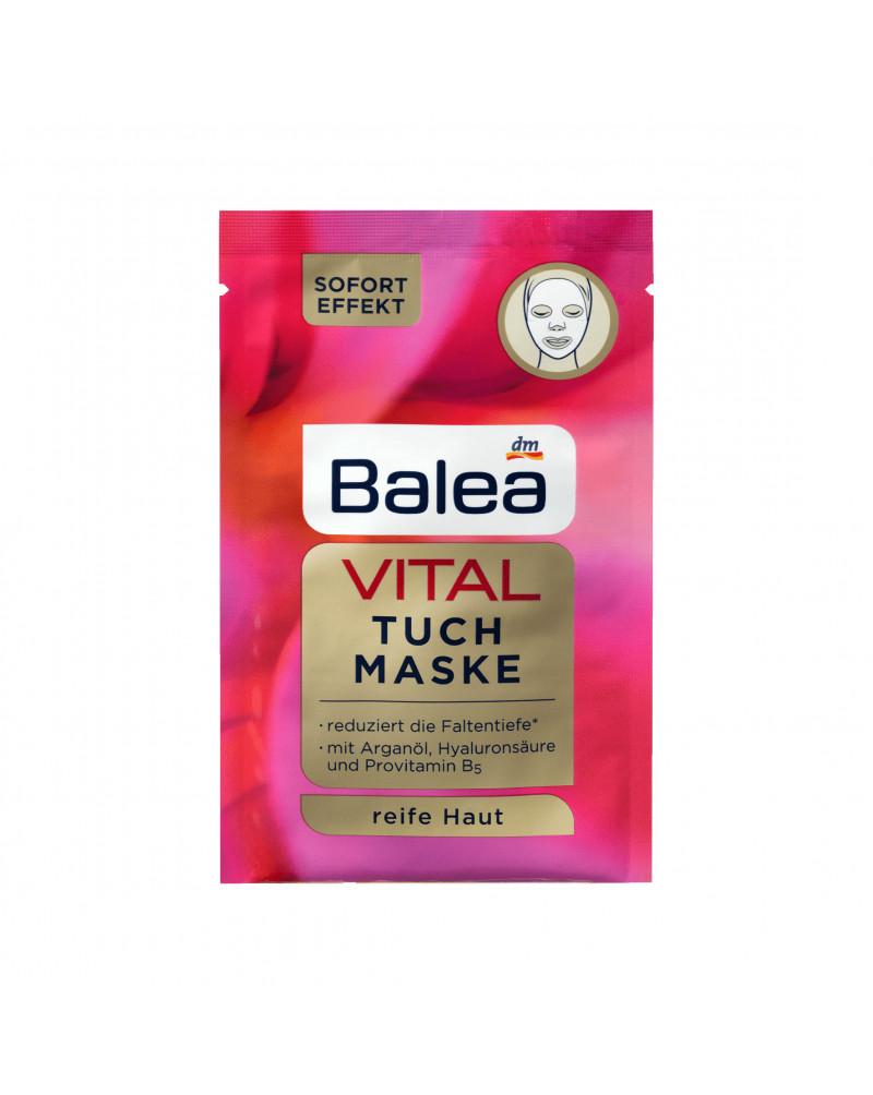 VITAL Tuch-Maske Маска тканевая для лица с лифтинг эффектом, с аргановым маслом, гиалуроновой кислотой и провитамином B5, 1 шт.