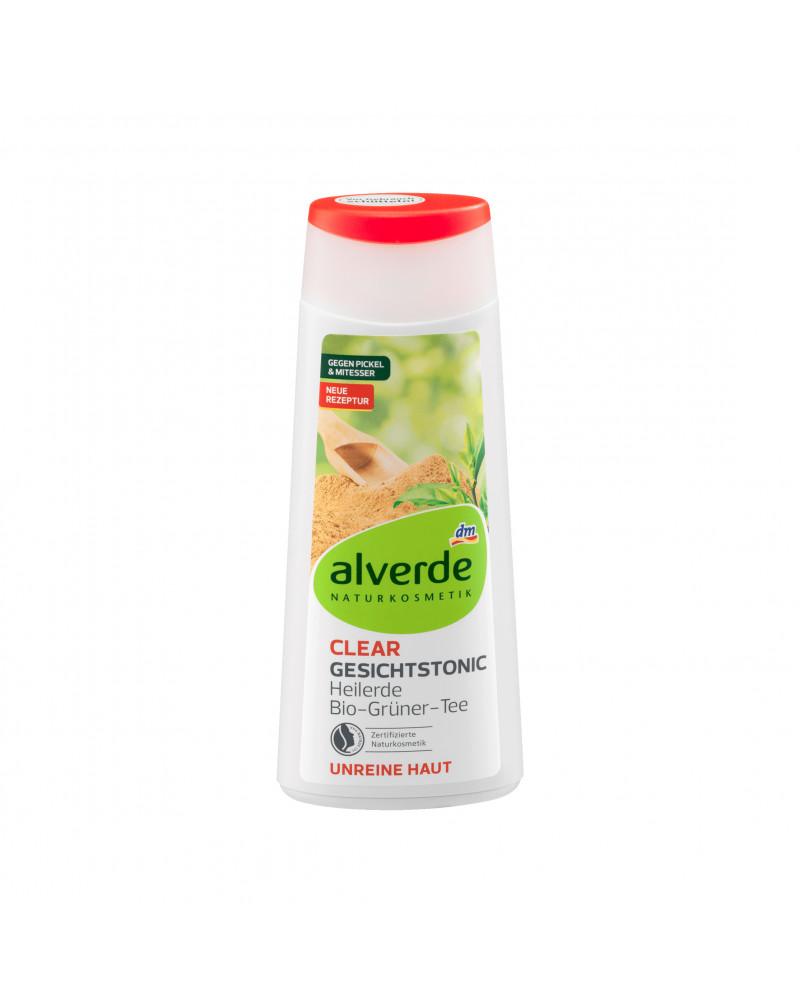 Gesichtswasser Clear Gesichtstonic Heilerde Тоник для лица с каолином, цинком, экстрактом зеленого зая, экстрактом корня клопогона, 200мл