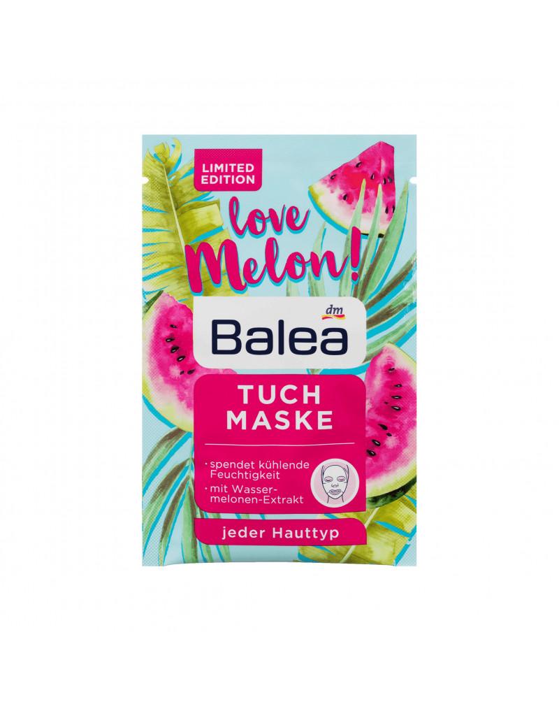 Balea Tuchmaske Love Melon Маска для лица увлажняющая, с экстрактом дыни и миндальным маслом,1 шт.