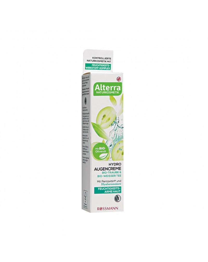 Hydro Augencreme Bio-Traube & Bio-Weisser Tee Крем для обезвоженной кожи вокруг глаз с экстрактом зеленого чая и маслом виноградных косточек, 15 мл