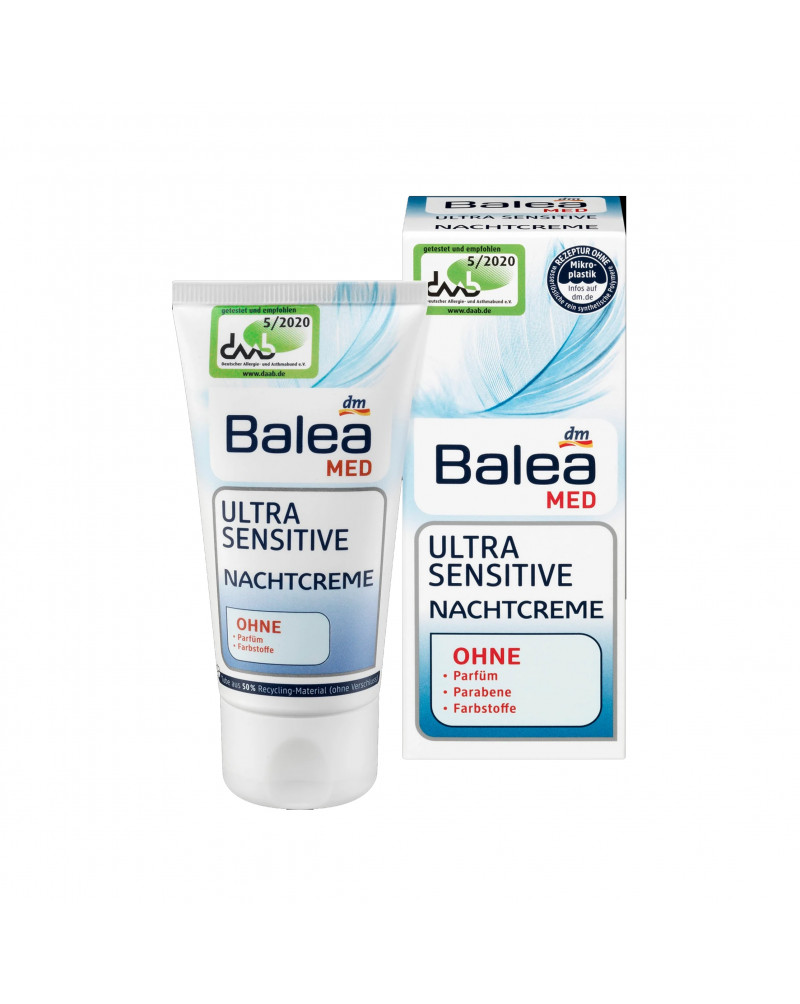 Nachtrcreme Ultra Sensitive Ночной крем для чувствительной кожи, 50 мл.