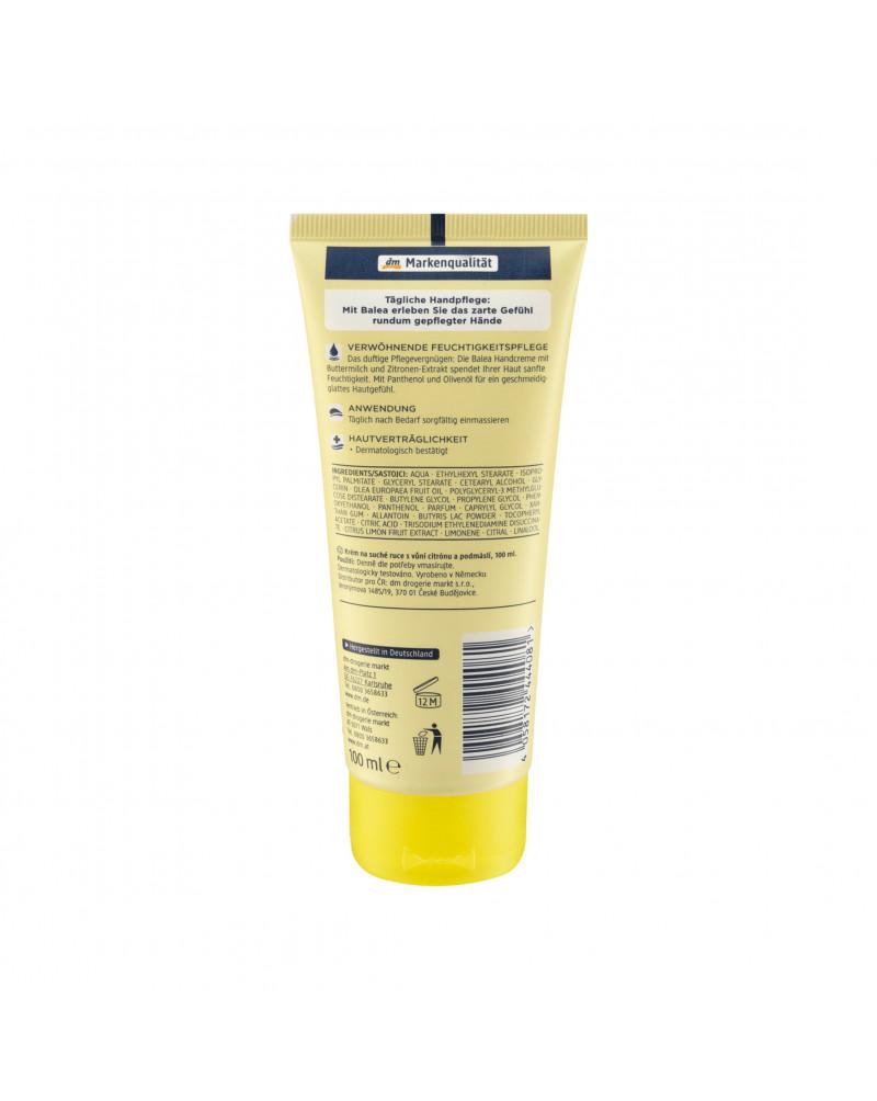 Handcreme Buttermilk & Lemon Крем для рук с маслом оливы, пантенолом и аллантоином, 100 мл