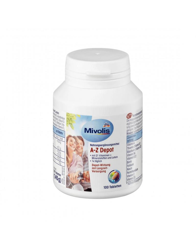 A-Z Depot, Пищевая добавка с 21 витамином, минералами и лютеином, 100 шт., 145 гр
