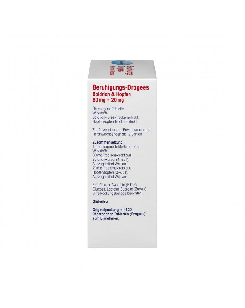 Beruhigungs-Dragees Baldrian & Hopfen Успокаивающие драже валериана и хмель, 120 шт.