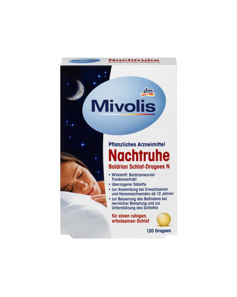 Nachtruhe Baldrian Schlaf-Dragees N Валериана для сна, 120 шт.