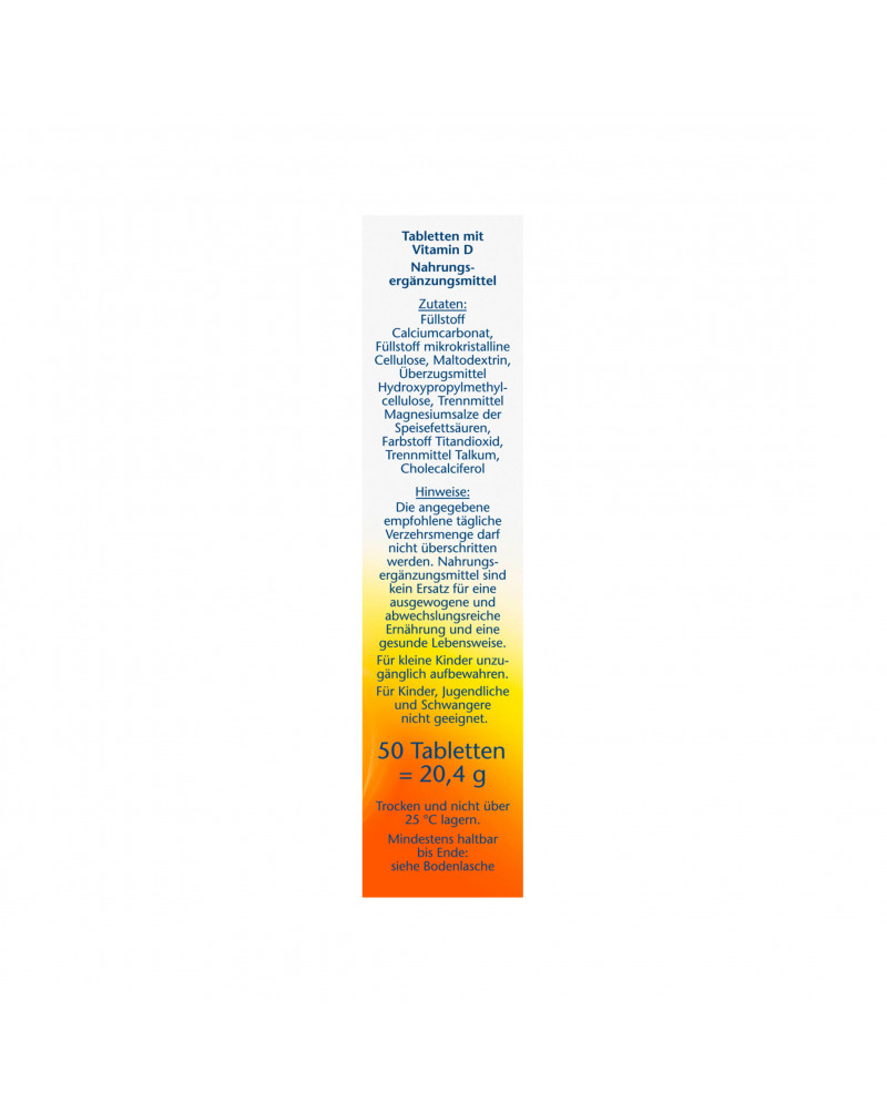 Vitamin D3 Витамин D3 2000 МЕ, 50 шт.
