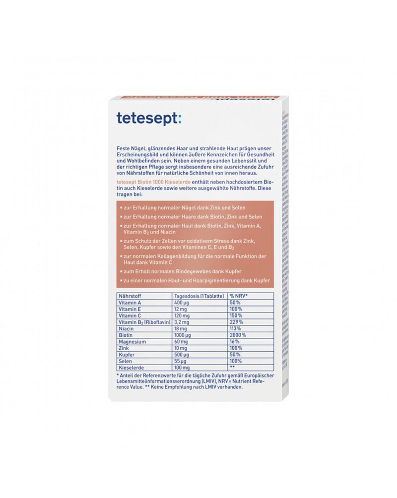 Biotin 1000 Kieselerde Tabletten Биотин 1000, 30 шт.