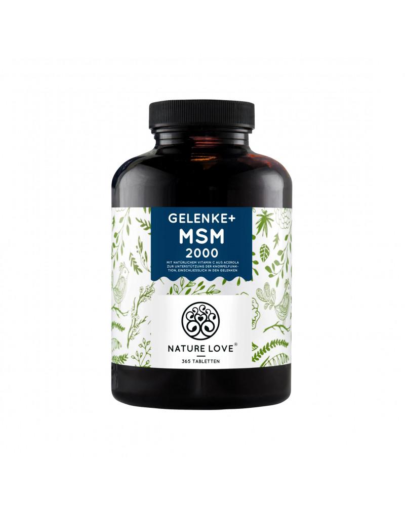 MSM Tabletten mit Vitamin C MSM капсулы с витамином C, 365 Шт.