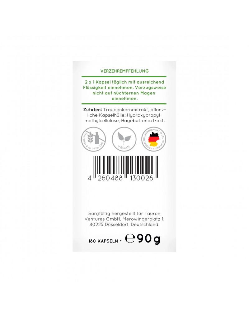 OPC Traubenkernextrakt Kapseln Капсулы с экстрактом виноградных косточек, 180 Шт.