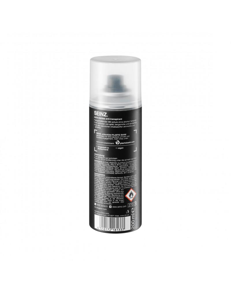 Deo Spray Antitranspirant extra stark Дезодорант-антиперспирант с экстрактом женьшеня, розмарина и активированным углем, 200 мл