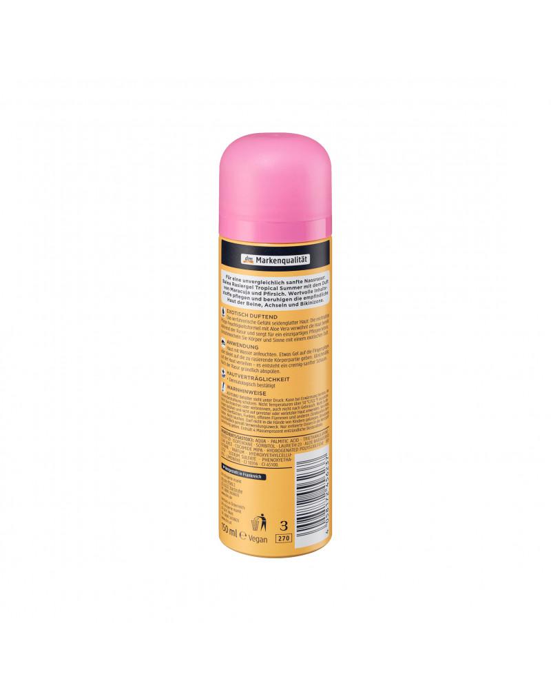 Rasiergel Tropical Summer Гель для бритья для чувствительной кожи с экстрактом алоэ вера, 150 мл