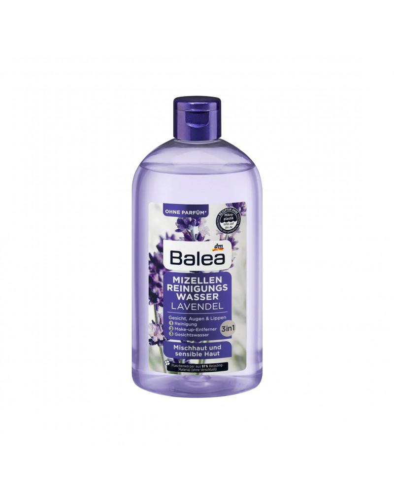 Mizellen Reinigungswasser Lavendel Мицеллярная вода для снятия макияжа с экстрактом лаванды для чувствительной кожи, 400 мл