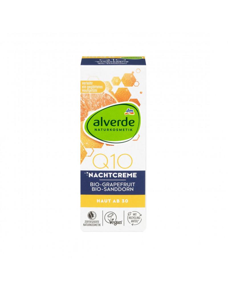 Q10 Nachtcreme Ночной крем для лица с коэнзимом Q10, экстрактом грейпфрута, маслом облепихи и экстрактом ацеролы, 50 мл.