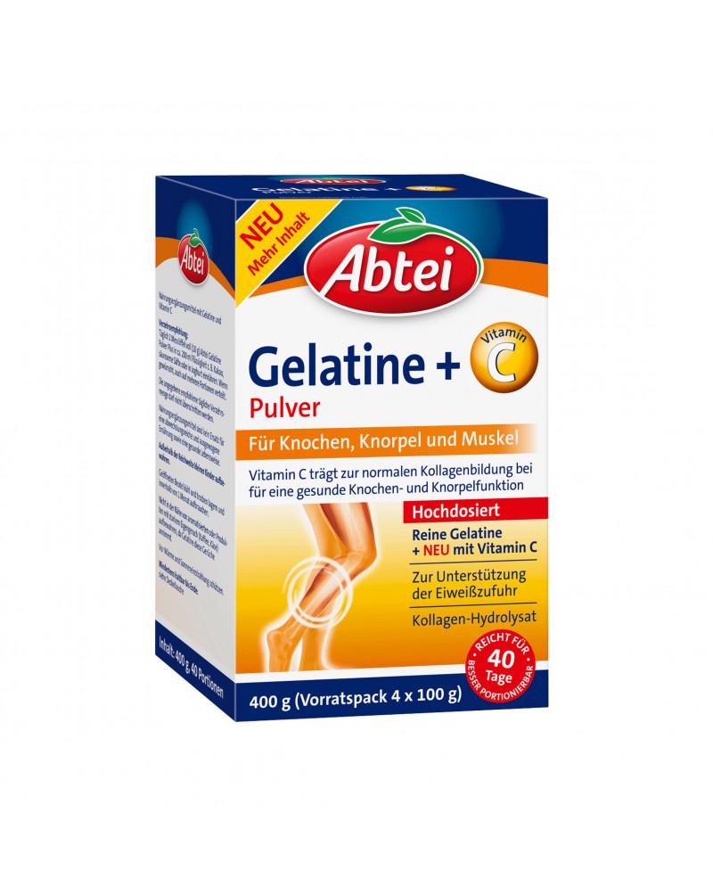 Gelatine Pulver + Vitamin C Желатиновый порошок с витамином С, 40 порций, 400 гр.