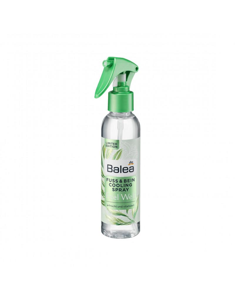 Fuß & Bein Cooling Spray Feel Well Охлаждающий спрей для ног с экстрактом листьев зеленого чая и пантенолом, 150 мл