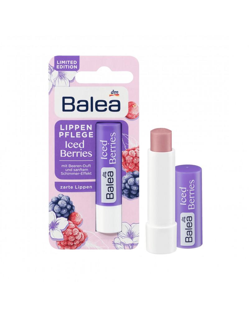 Lippenpflege Iced Berries Бальзам для губ с маслом Ши, касторовым маслом, 4,8 гр