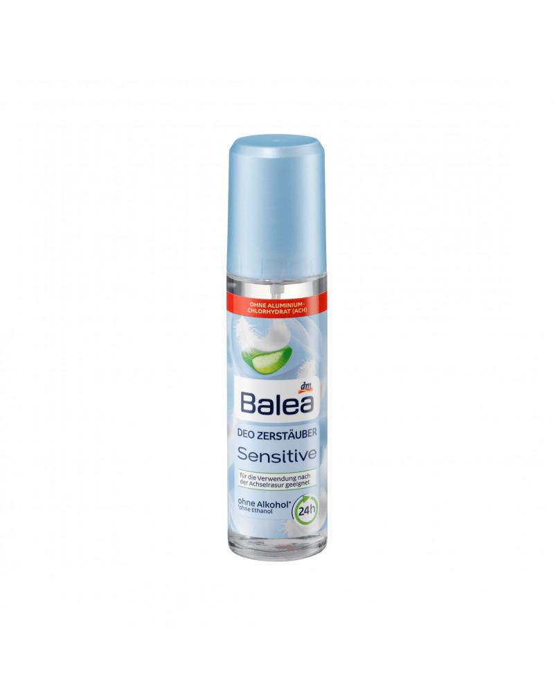 Deo Zerstäuber Deodorant Sensitive Дезодорант-спрей парфюмированный для чувствительной кожи  с экстрактом алоэ и пантенолом, 75 мл
