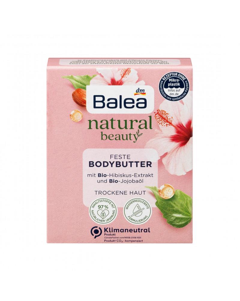 Natural Beauty feste Bodybutter Bio-Hibiskusextrakt & Bio-Jojobaöl Масло для тела с органическим маслом жожоба, экстрактом гибискуса и свежим цветочным ароматом, 40 гр.