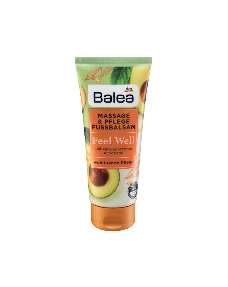 Massage- & Fußpflegebalsam Feel Well Бальзам для ухода за ногами с маслом жожоба и авокадо холодного отжима, 100 мл.