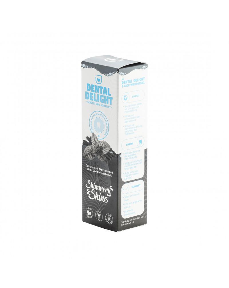 Zahnpasta Shimmery Shine Зубная паста с активированным углем, со вкусом мяты и лакрицы, 75 мл