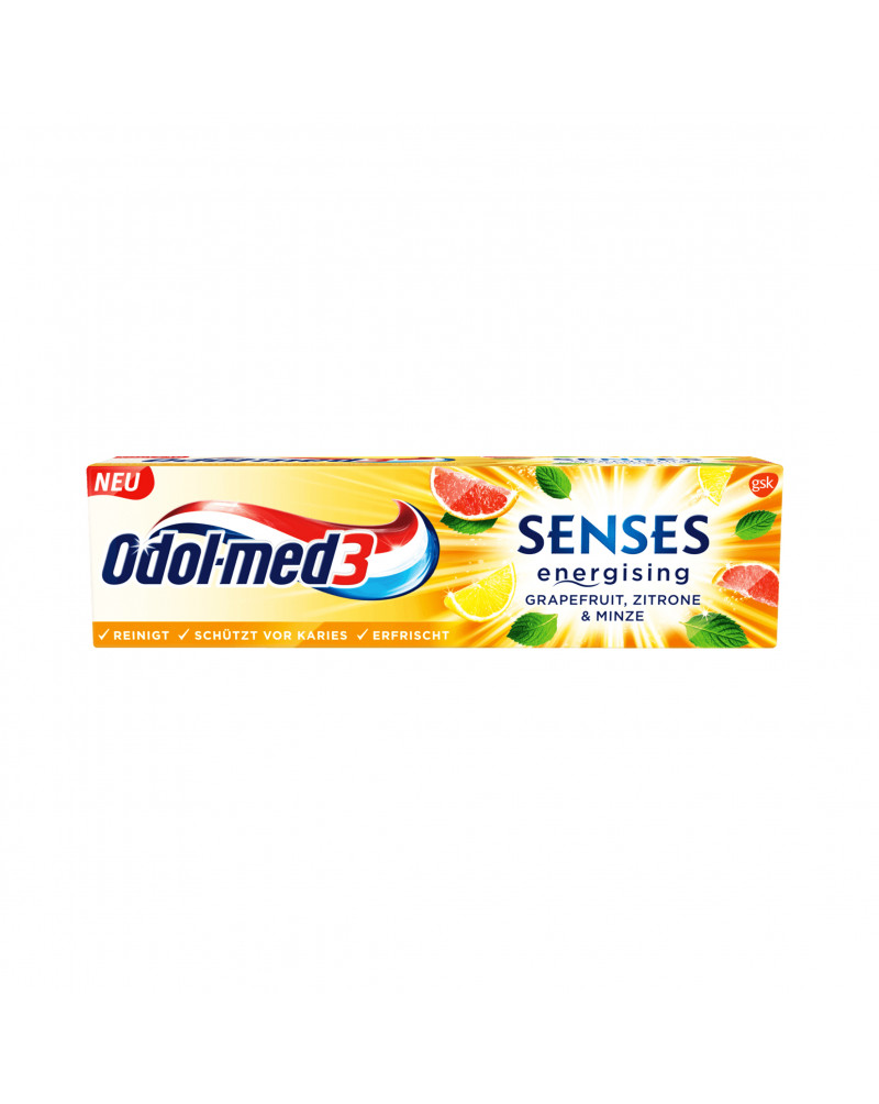 Zahnpasta senses energising Grapefruit, Zitrone & Minze Зубная паста со вкусом грейпфрута, лимона и мяты, 75 мл