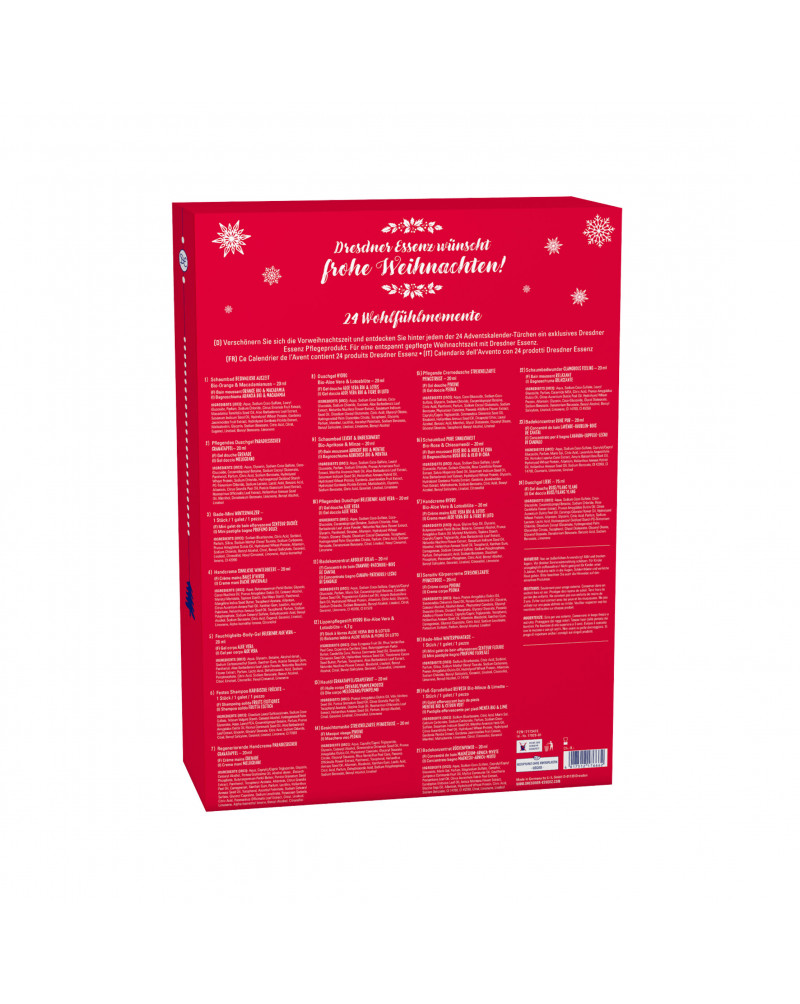 Adventskalender 2022 - 24 Verwöhnmomente für die kalte Jahreszeit Адвент-календарь на 2022 год - 24 момента ухода за телом в холодное время года