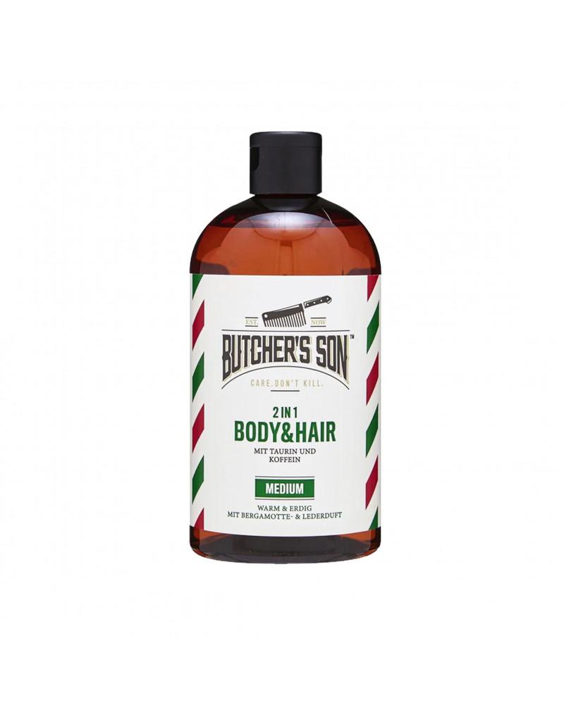 2in1 Body & Hair Medium Гель для душа и шампунь 2В1, с таурином, кофеином и ароматом бергамота и апельсина, 420 мл