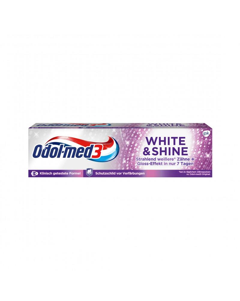 Zahnpasta White & Shine Зубная паста с фтором, 75 мл.