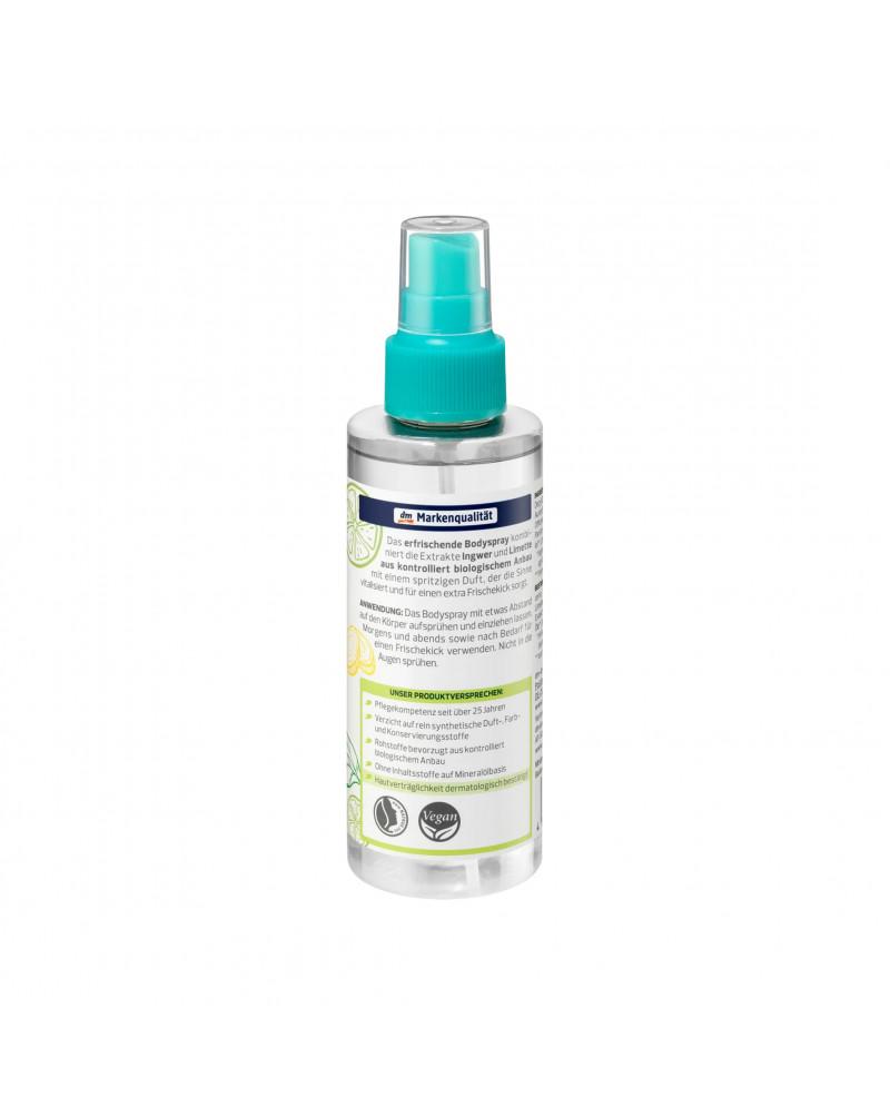 Bodyspray Bio-Ingwer-Limette Спрей для тела с экстрактом имбиря и лайма, 150 мл.