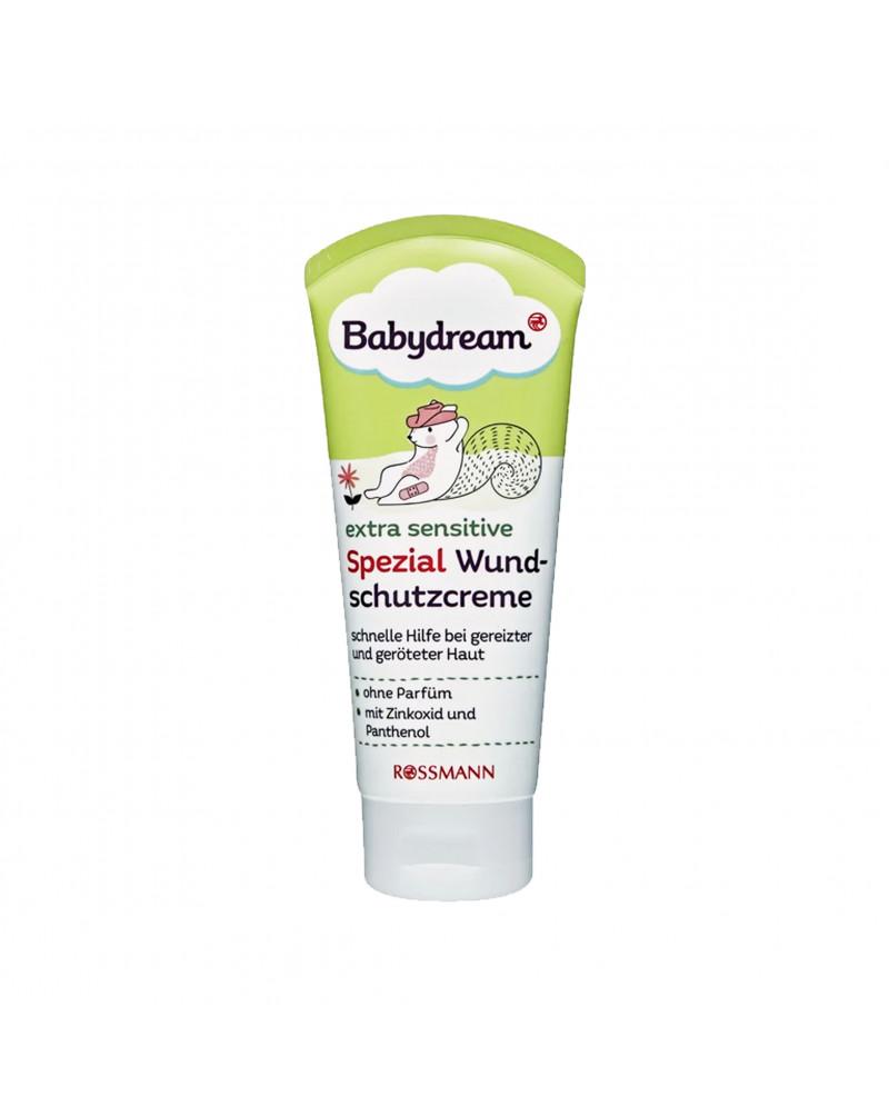Extra sensitive Spezial Wundschutzcreme Детский крем для очень чувствительной кожи лица с экстрактом ромашки, маслом миндаля, цинком и пантенолом, 75 мл
