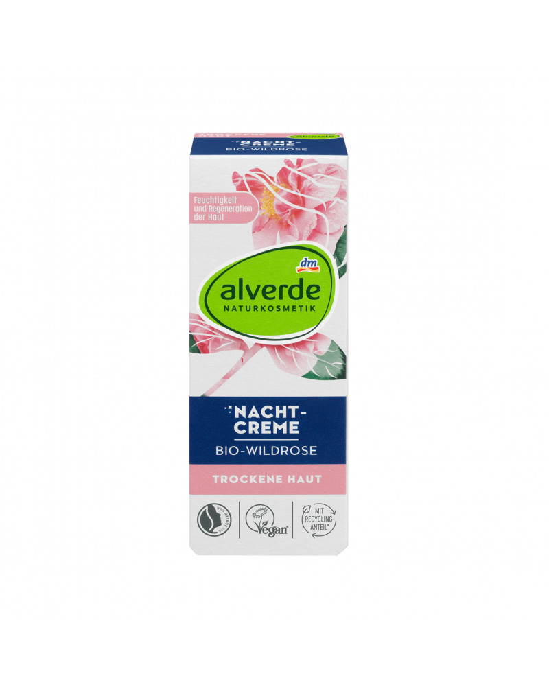 Nachtcreme Wildrose Ночной крем с драгоценными натуральными маслами дикой розы, подсолнечника, авокадо и оливы, 50 мл