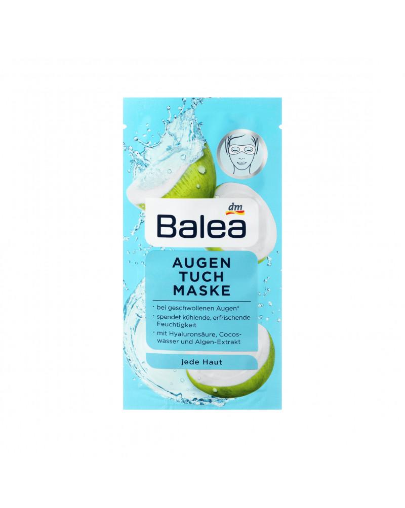 Tuchmaske Augen Тканевая маска для области глаз с гиалуроновой кислотой, кокосовой водой и экстрактом водорослей, 1 шт.