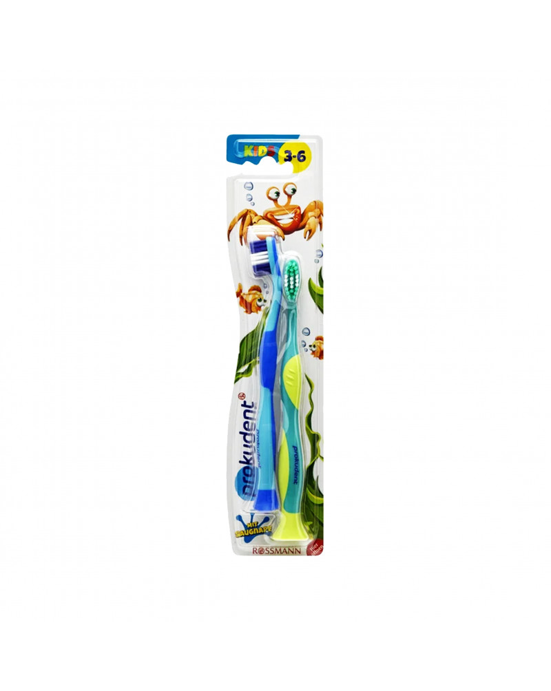 Kids Kinderzahnbürste Doppelpack Зубная щетка для детей, мягкая, с 3 до 6 лет, 2 шт.